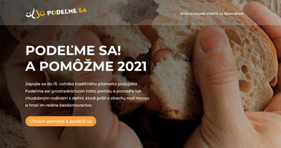 PODEĽME SA! A POMÔŽME 2021