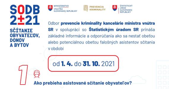 Sčítanie obyvateľstva - informačná kampaň MV SR s cieľom ochrániť zraniteľné osoby pred podvodníkmi