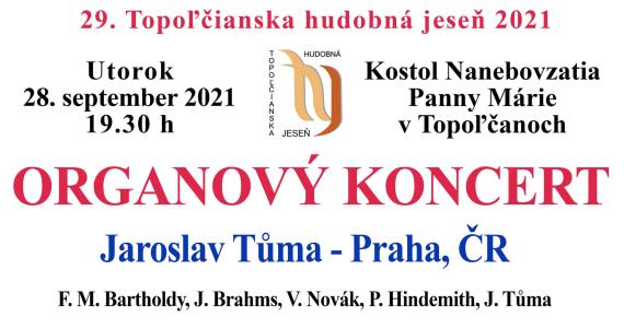 Pozvánka na Organový koncert.