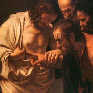 Zamyslenie na 2. veľkonočnú nedeľu - Ježiš vstupuje za zatvorene dvere a ukazuje neveriacemu Tomášovi svoje rany. (PB)